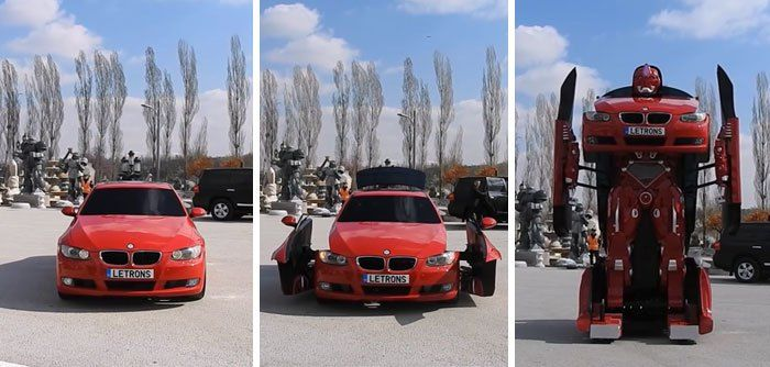 Watch: Engineers In Turkey Have Made A Driveable Real Life Transformer :http://gossfeed.com/2016/09/24/letron-bmw-transformer/