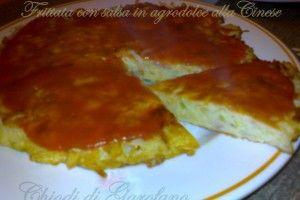 Frittata con salsa in agrodolce alla Cinese http://blog.giallozafferano.it/chiodidigarofano/frittata-con-salsa-agrodolce-alla-cinese