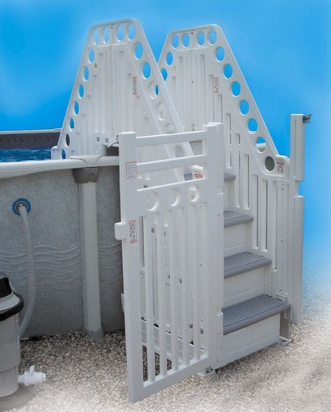 Best Amazon Com Confer Double Staircase Above Ground Pool 640 x 480