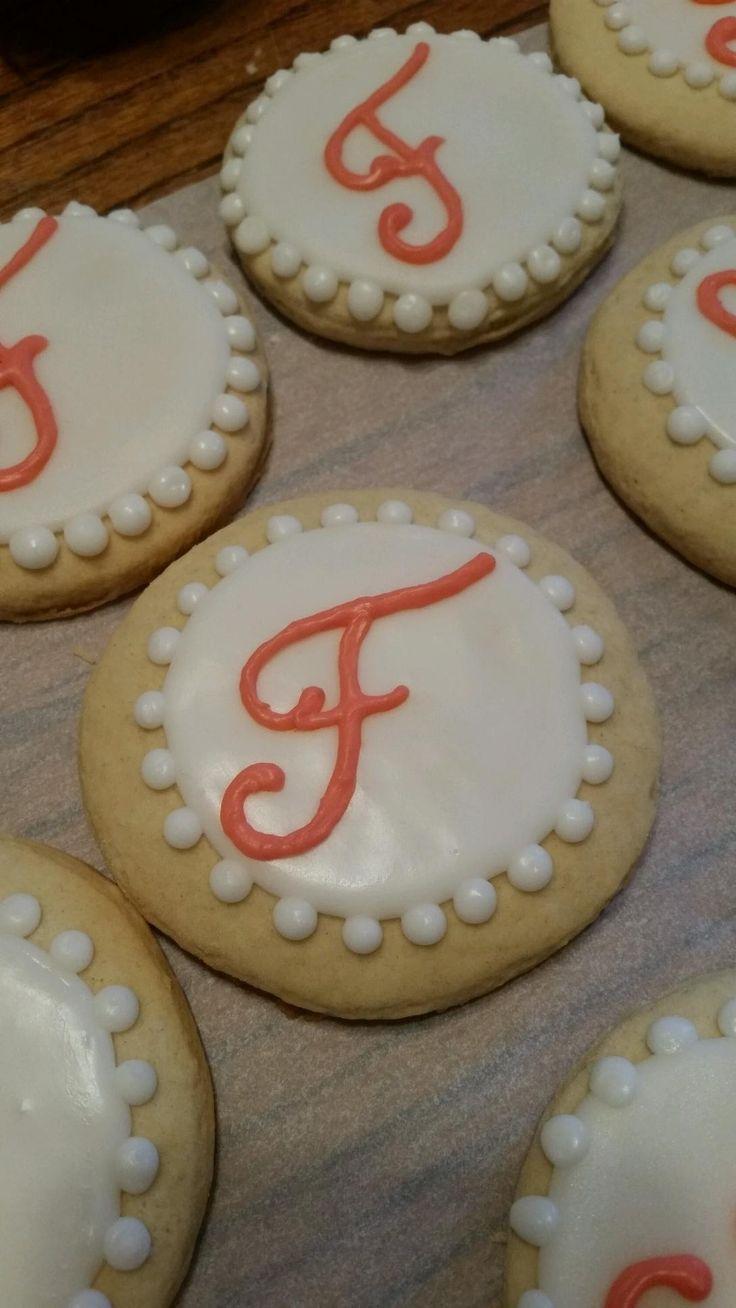 Monogram Cookie Wedding Favors
