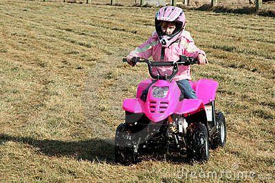 Little Pink Four Wheeler Quad Girl 2
