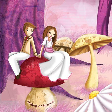 Illustration pour un faire-part de mariage romantique