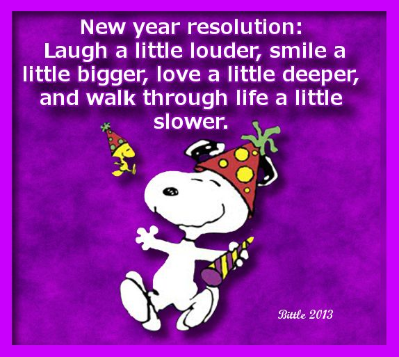 Snoopy & Woodstock's 'New Years Resolution' .... sounds like a plan, I think I'll join you!  :)
