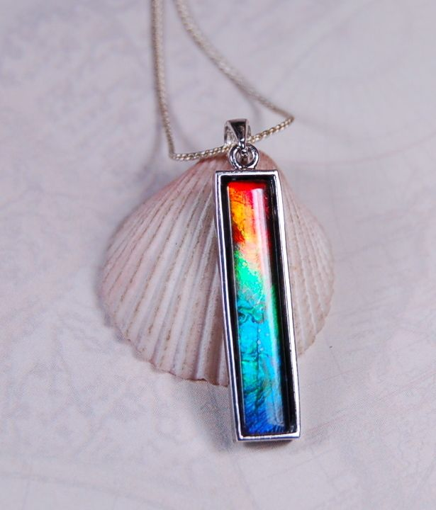4ce91783e956ac Ammolite Jewelry From Canada - Ammolite Pendant.5 colour ammolite rainbow .RARE.,