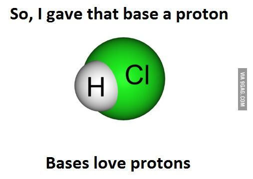 Acid base chemistry jokes