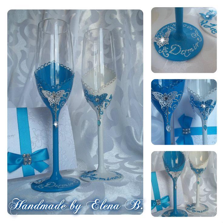 <3 Wedding glasses <3