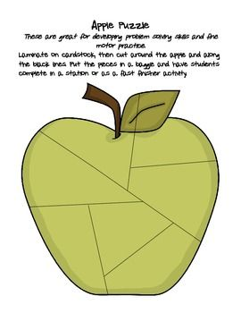 K-1 fine motor skills apple station activities!  LOVE!!!!: Fine Motor