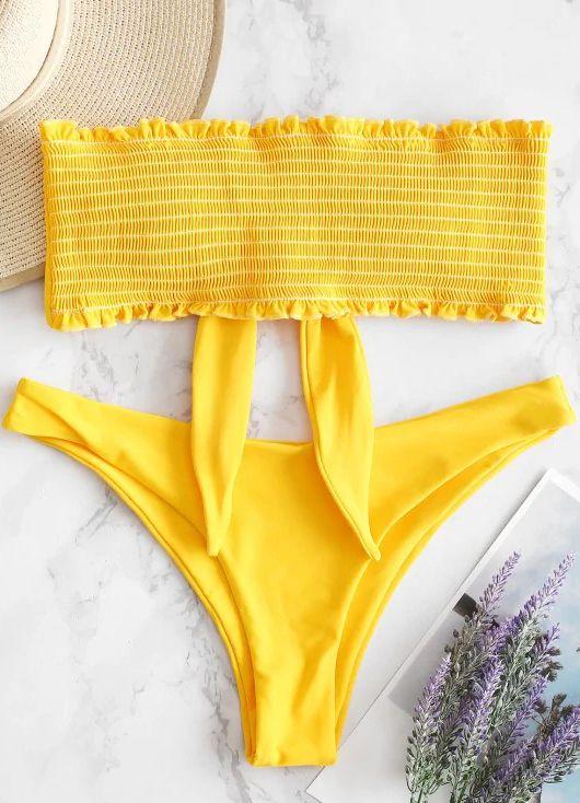 1b0350f65f Style: Fashion Swimwear Type: Bikini Bikini Type: Bandeau Bikini Gender:  For Women