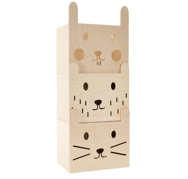 Miniwoo stackable storage box bear 30 x 22 cm | PSikhouvanjou