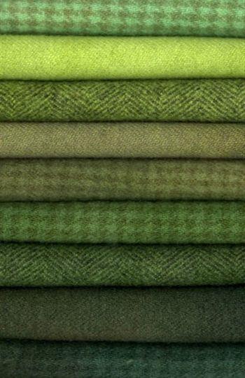 A Stack of Green Tweeds ....