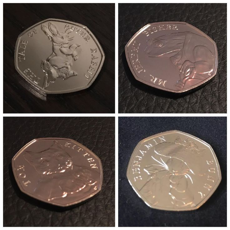 2017 BUNC Unc Beatrix Potter 50p Fifty Pence Coins Full Set Album Available | eBay