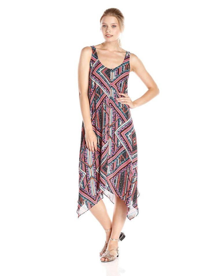 eight sixty Women's Bodega Print Tank Maxi Dress