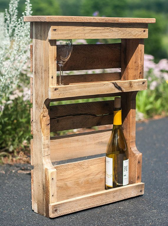 Rustic Wine Rack Reclaimed Wine Rack Wine Rack by byDadandDaughter