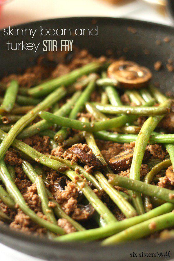 Ground Turkey Bean And Mushroom Stir Fry Recipe In 2018 Recipes