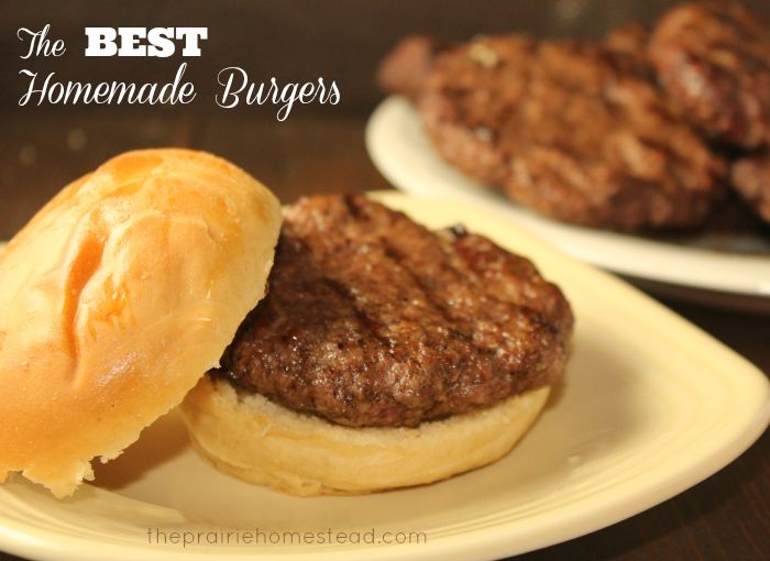 The best homemade burgers. Courtney here: this is true. These are so good and super flavorful. I substituted oatmeal for breadcrumbs because that's what I had and... I'm Patti's daughter :)