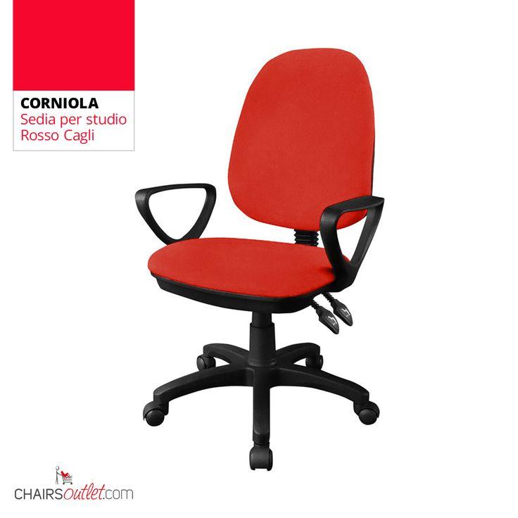 CORNIOLA sedia da home-office, in offerta prezzo a € 73,50 già scontata del 50% solo su www.chairsoutlet.com #sedie #rosse #casa #studio #stile #saldi #offerte #outlet