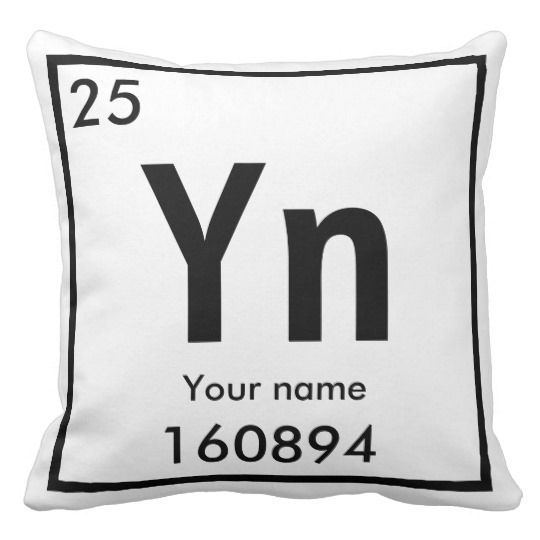 New chemical Element Throw Pillow