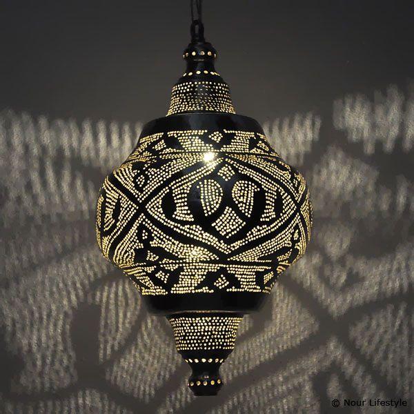 Egyptische lampen Basha - gesloten lamp met Arabisch patroon - Nour Lifestyle