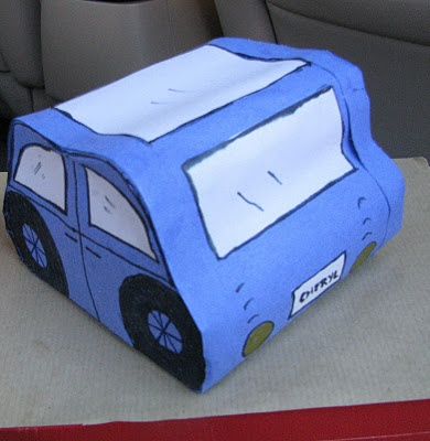 how to make a paper car that rolls