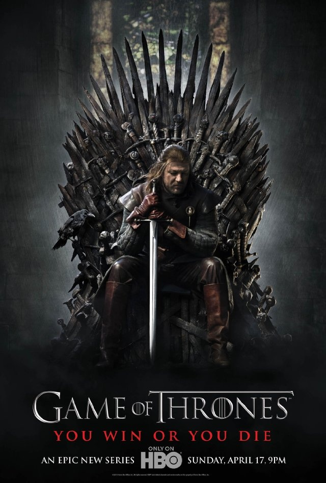 Game of Thrones - Huge fan of the show, the books and most of all George R.R. Martin the writer. (Sean Bean playing Eddard Stark in picture)