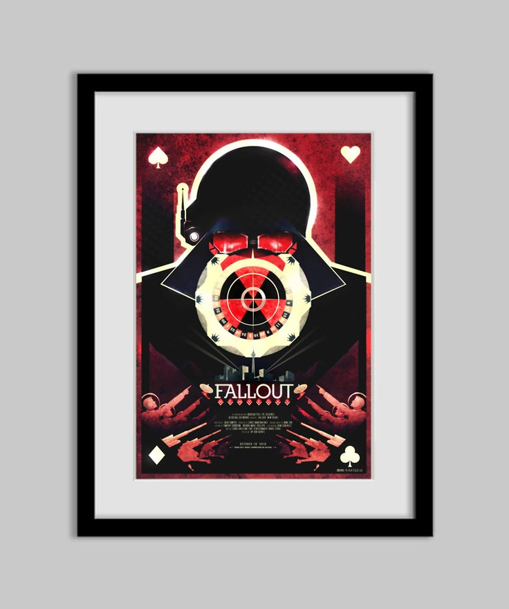 Fallout New Vegas Poster 13X19 by RonGuyatt on Etsy. $20.00, via Etsy.