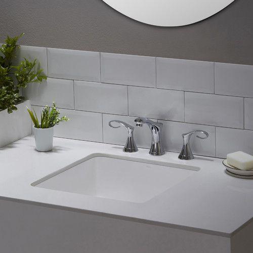 Found it at Wayfair - Elavo™ Ceramic Square Undermount Bathroom Sink with Overflow