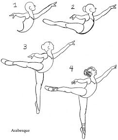 How to Draw Ballet Pointe Shoes, print for kids