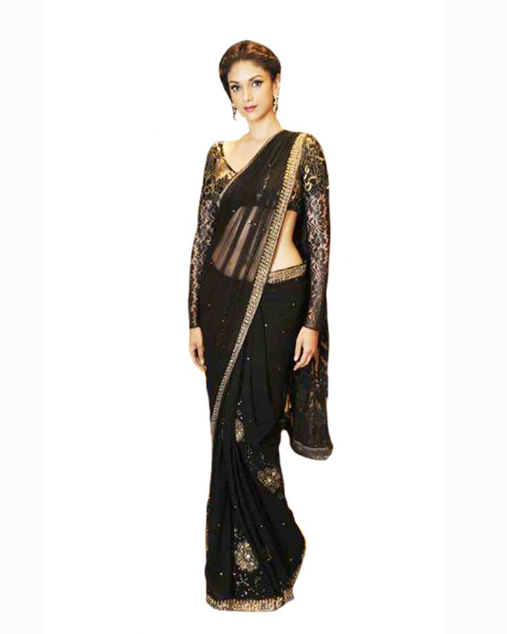 Bollywood Deepika Padukone in Black Saree