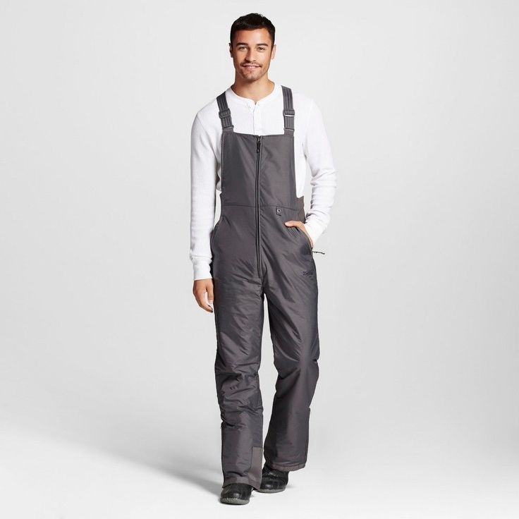 Men's Big & Tall Insulated Bib Overalls 6XL Gray - Zermatt, Grey