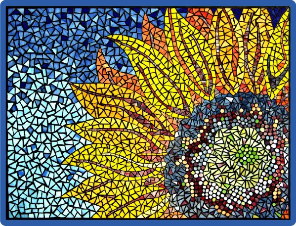 17 best images about sunflower mosaics on pinterest for Mosaic painting meaning