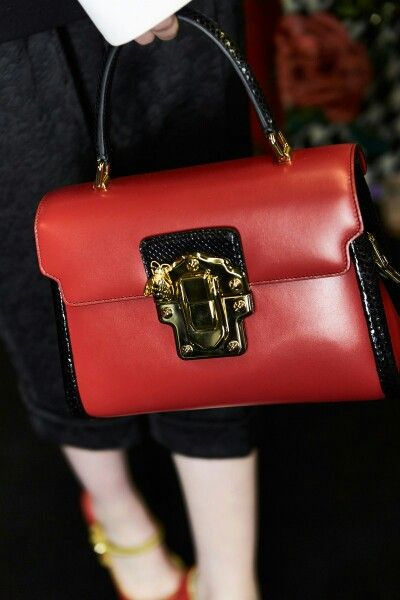 dolcegabbana F/W16/17 #DGFabulousFantasy Women's Fashion Show. Elegant and Bright Red Handbag. More insights on @dolcegabbana and #dgfw17. Also follow @voguerunway and #MFW.