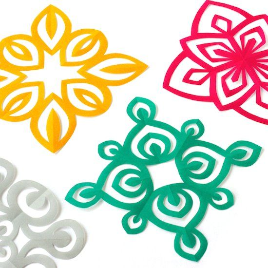 Four new kirigami templates to fold & cut. Free Printable Templates!