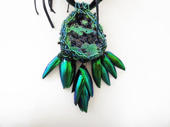 kever vleugels ketting kever vleugels sieraden, elytra hanger, elke dag ketting, tribal verklaring ketting, unieke gift, bohemian ketting