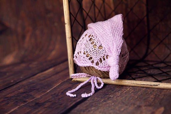 newborn baby girl crochet pink hat newborn photography