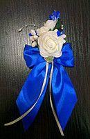 Бутоньерка роза  белая