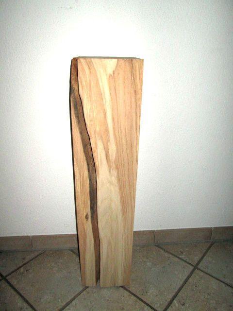 Nr.26, Eiche, 20cm x 20cm x 90cm Holzsäule, Deko Säule Holz, geschliffen