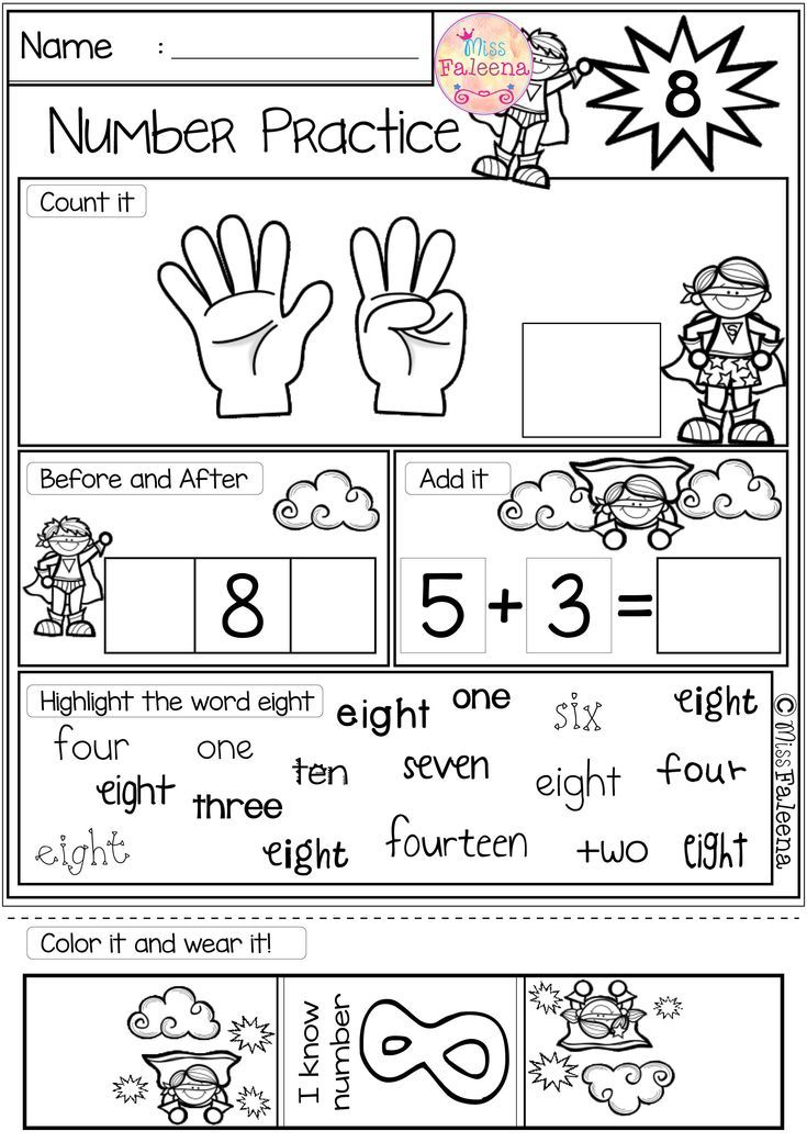 There Are 20 Pages 1 20 Number Practice Worksheets In This Product Also Included 2 Pages Of Number Coloring Children Will Lea Matematika Untuk Anak Anak Anak