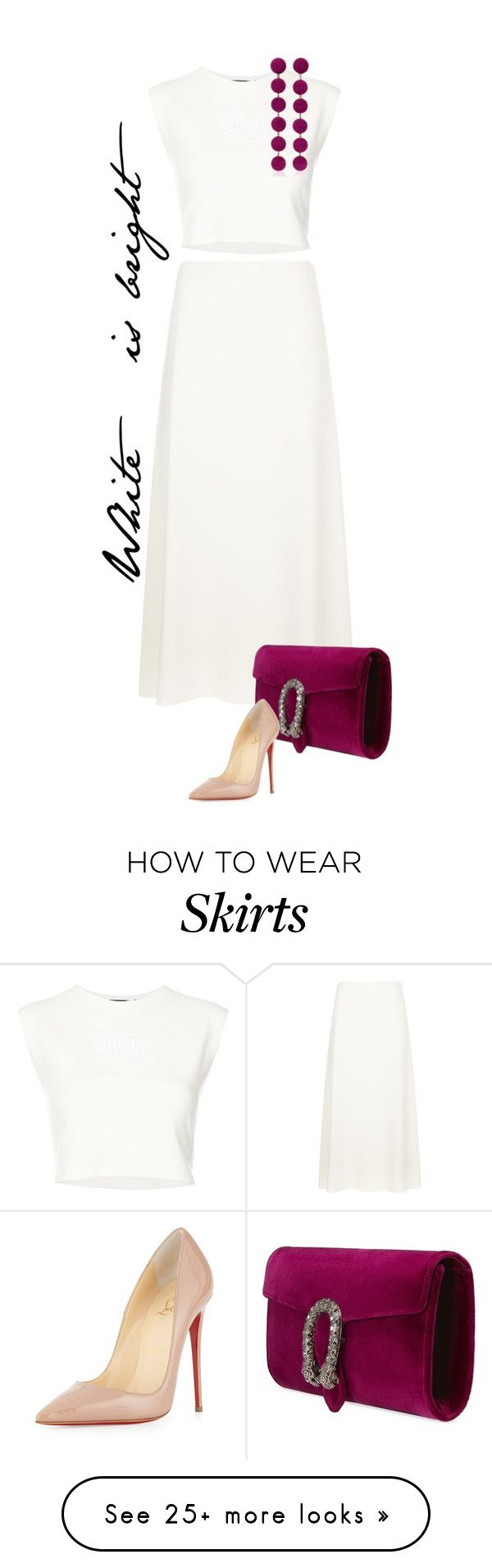 """""""Untitled #494"""" by lionfishka on Polyvore featuring The Row, Puma, Gucci, Rebecca de Ravenel and Christian Louboutin"""