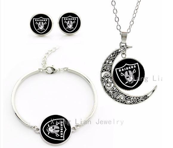 Oakland Raiders Jewelry Set