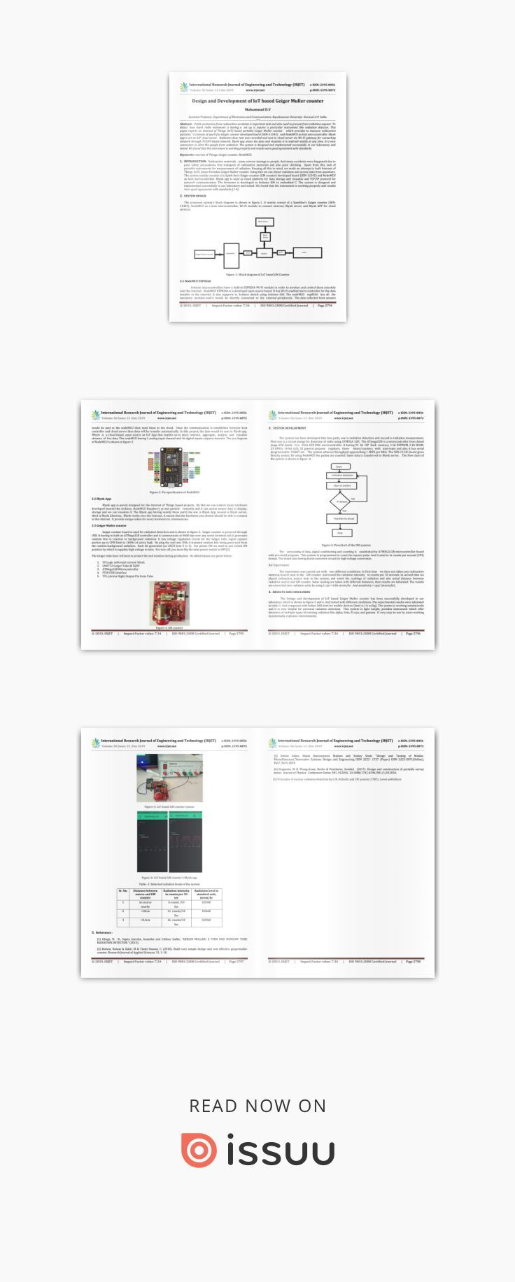 Irjet Design And Development Of Iot Based Geiger Muller Counter In 2020 Iot Radiation Dose Circuit Design