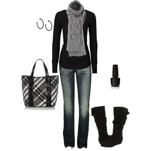 I love black sweaters & digging the purse!!