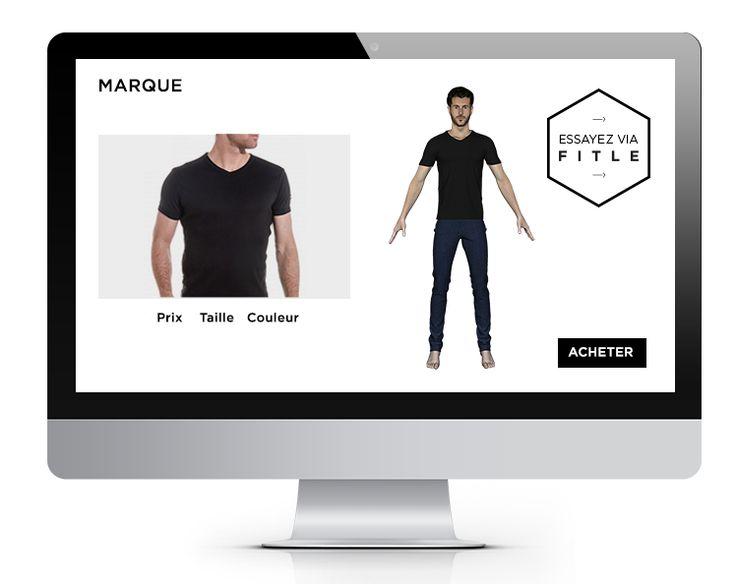 Fitle : Application qui crée votre avatar en 3D pour tester les vêtements achetés en ligne