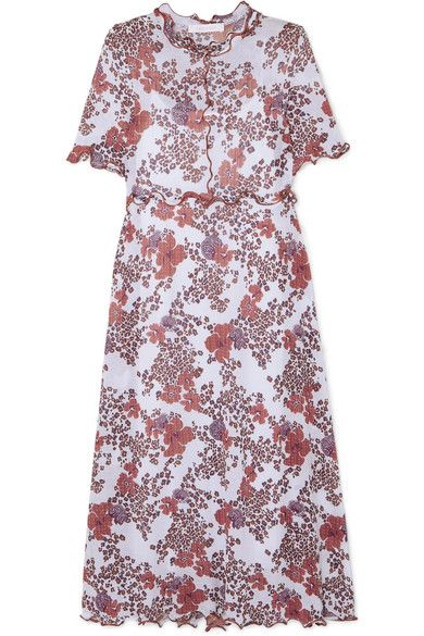 See By Chloé Ruffled Floral print Stretch gauze Dress