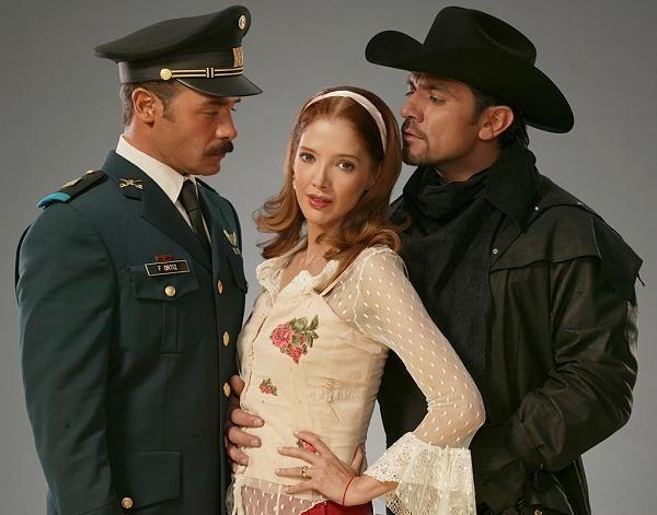 """Adela Noriega....con Sergio Sendel y Jorge Salinas..""""La Esposa Virgen"""" 2005"""