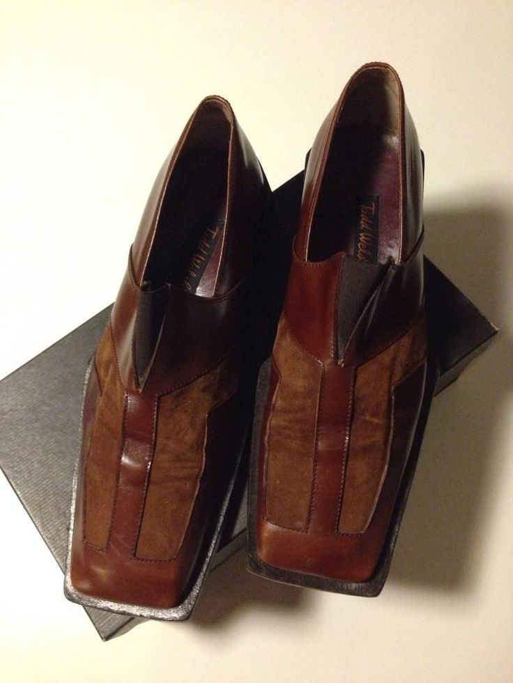 Todd Welsh Brown Shoes For Men Made In Italy Size 13 #ToddWelsh #dressshoes