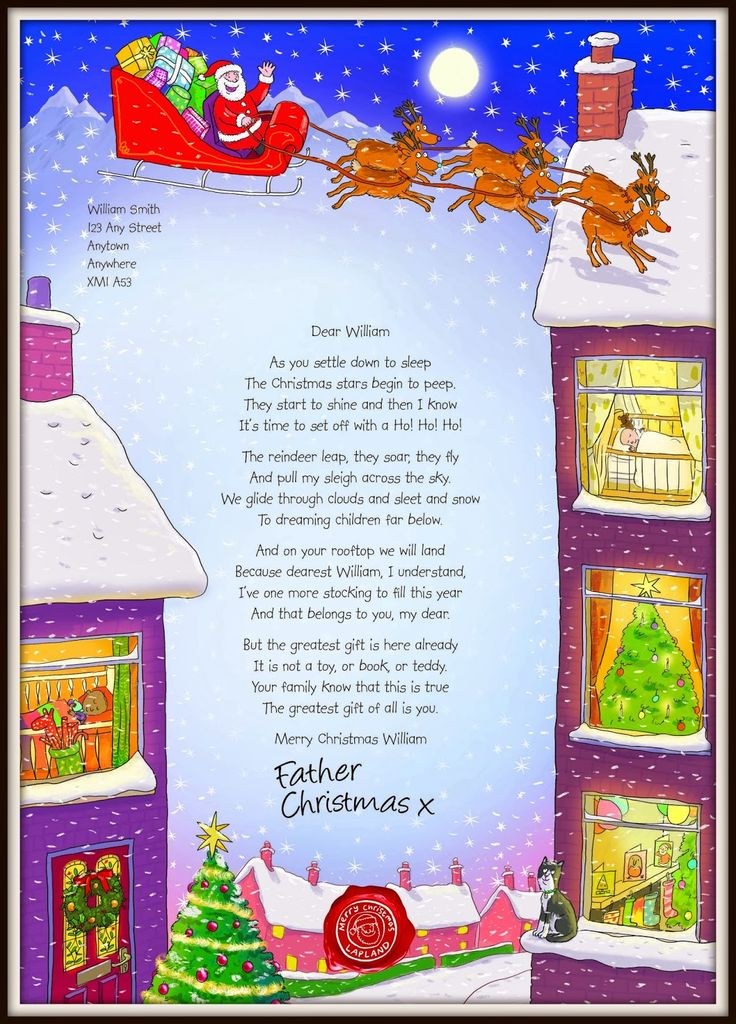how to write a letter from santa