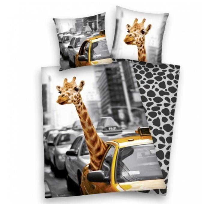 NEW YORK - Parure housse de couette + taie girafe - Achat / Vente parure de couette - Soldes* d'été Cdiscount