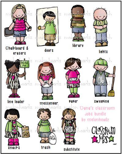 D Line Drawings Jobs : Classroom jobs bundle melonheadz font and graphics