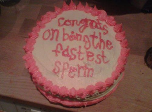 funny cake message fastest sperm | Funny | Pinterest