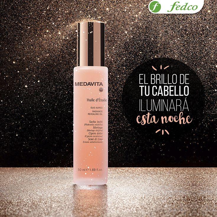 Tu cabello brillará tanto de día como de noche con el nuevo MedavitaHuile d´Étoile, un baño de luz que a base de aceites e ingredientes legendarios, dejarán tu cabello brillante y sedoso #NightSwitch